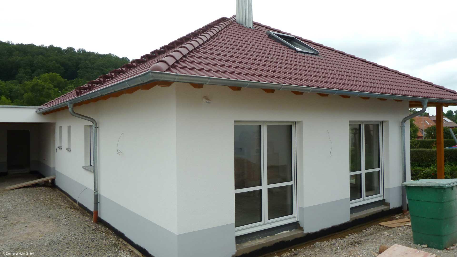Bungalow SQUARE - Holzhaus Neubau mit Carport