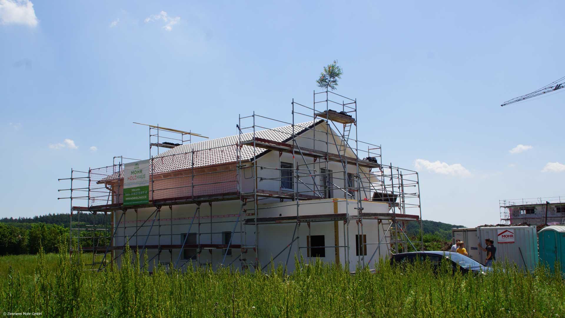 Neubau Bungalow SCANDI mit Holzfassade im skandinavischen Baustil
