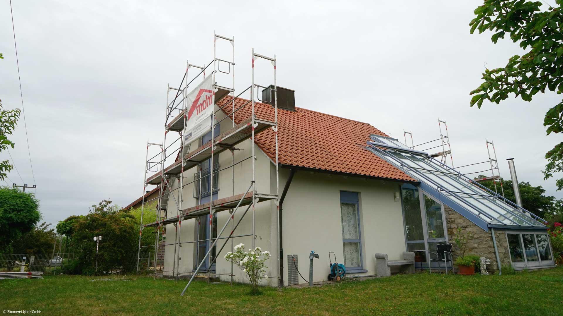 Anbau SOLITÄR - Einfamilienhaus vorher